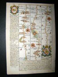 Owen & Bowen C1740 HC Road Map. Hants. Wilts. Andover, Salisbury, Middle Wallop